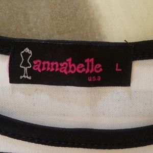 Annabelle Tops - Black and white top